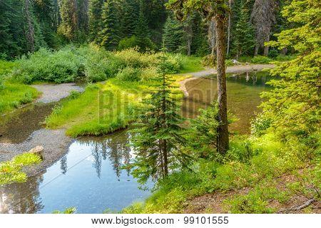 Majestic mountain lake in Canada. Lightning Lake in Manning Park in British Columbia.