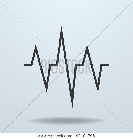 Icon Of a Cardiogram, Ecg.