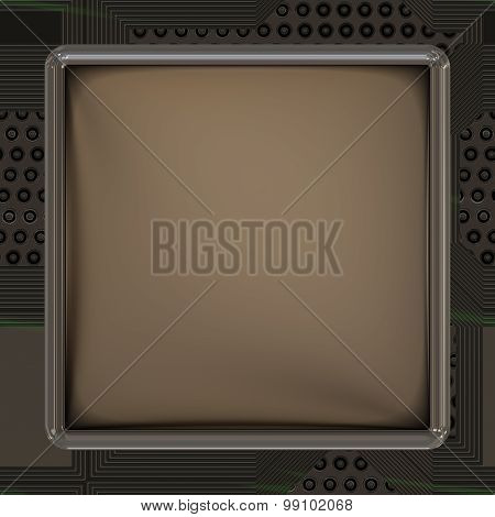 LCD Screen On Circuit Generated Texture