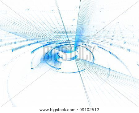 Abstract Image Of Science , Business, Technology , Education
