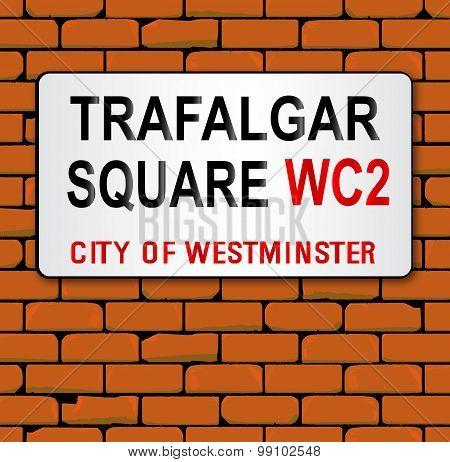 Trafalgar Place Name Sign