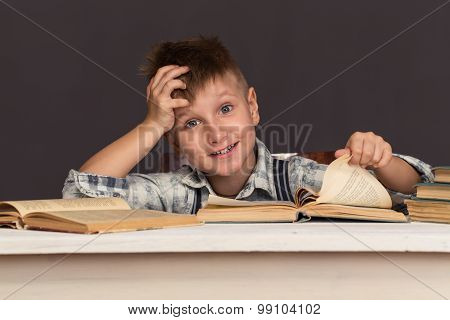 Boy Child Read Book, Children Education