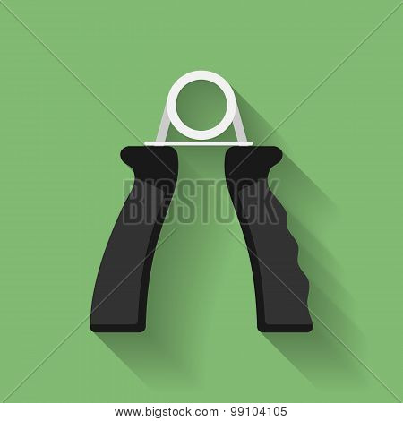 Icon Of Hand Grip Exerciser Or Trainer. Flat Style