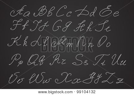 Hand Written Or Hand Drawn Letters, Script Letters. Calligraphy Letters.