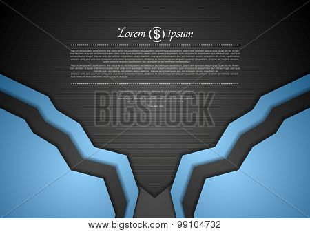 Abstract corporate blue art template design. Vector illustration