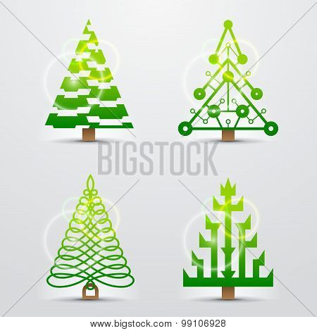 Stylized Signs Of Christmas Tree