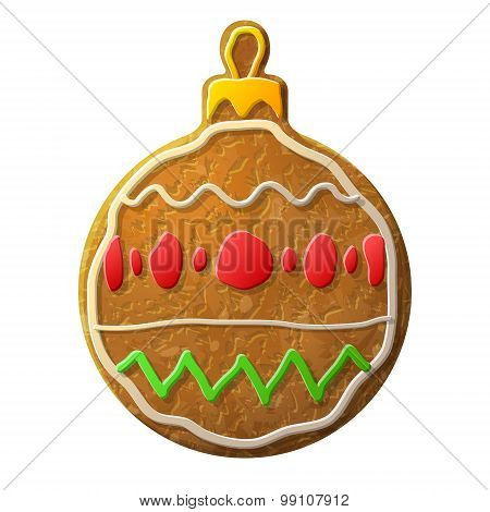Gingerbread Bauble Symbol Decorated Colored Icing