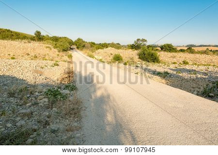 The road through the dry river