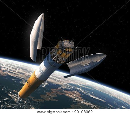 Launching Of Interplanetary Space Station