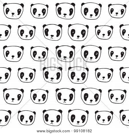 Seamless pattern with pandas.