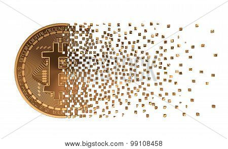 Bitcoin Falling Apart To Pixels