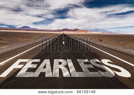 Fearless written on desert road