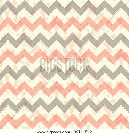 vector Seamless chevron pattern on linen turquoise canvas background.
