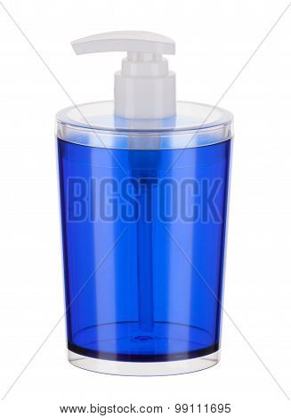 Plastic Soap Dispenser Isolated On A White Background