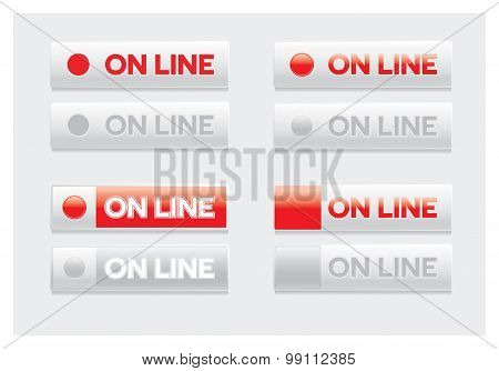 On-line button