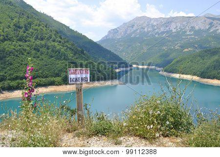Pivsko Lake near Pluzine, Montenegro.