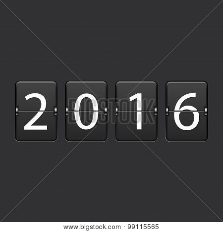 vector modern 2016 New Year background.