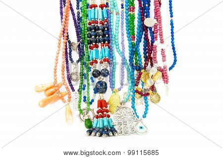 Colourful handmade necklaces