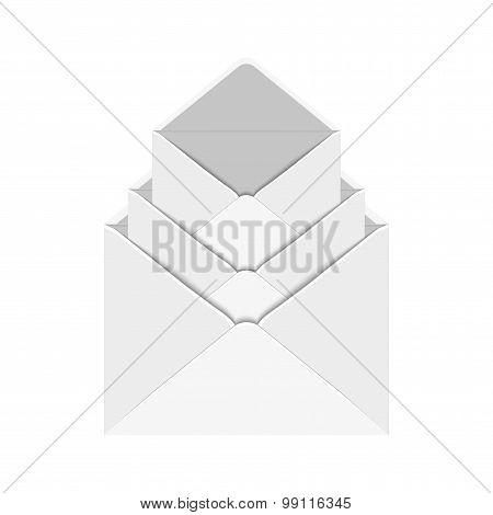 Vector modern 3 envelope on white