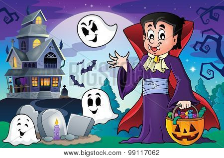 Halloween vampire theme image 5 - eps10 vector illustration.