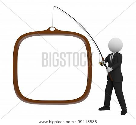 Businessman Fishing
