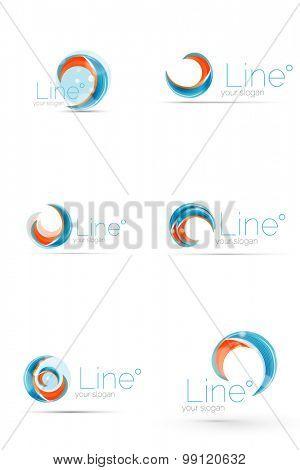 Swirl blue orange company logo design. Universal for all ideas and concepts. Business creative icon