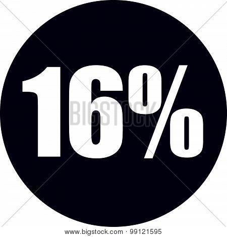 16 Percent Icon