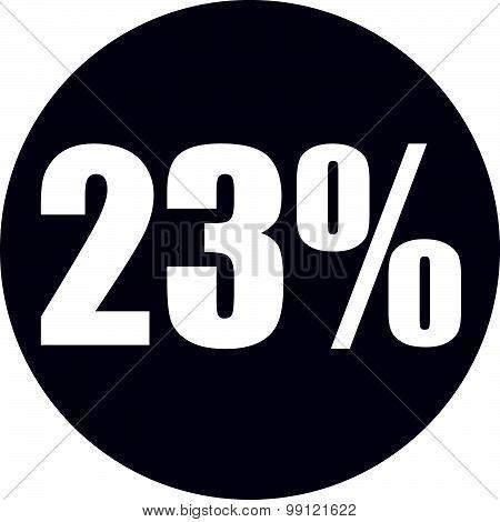23 Percent Icon