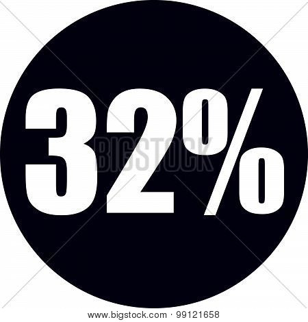 32 Percent Icon