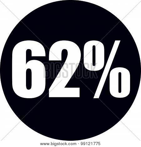 62 Percent Icon