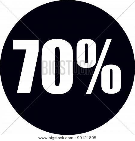 70 Percent Icon