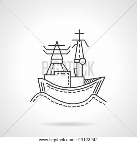 Harbor abstract line vector icon
