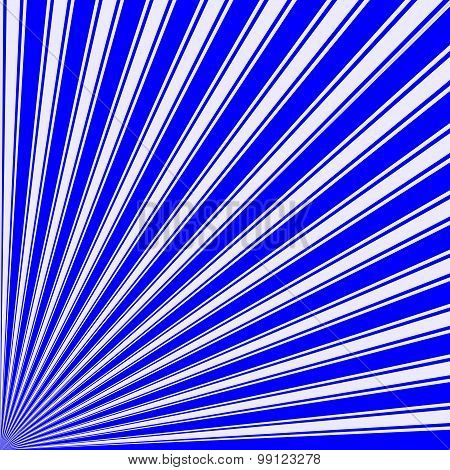 Blue Color Stripe Funky Sun Rays Backgound