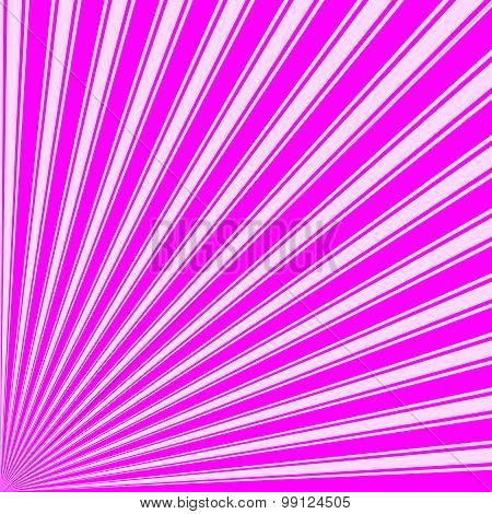 Magenta Color Stripe Funky Sun Rays Backgound