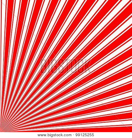 Red Color Stripe Funky Sun Rays Backgound