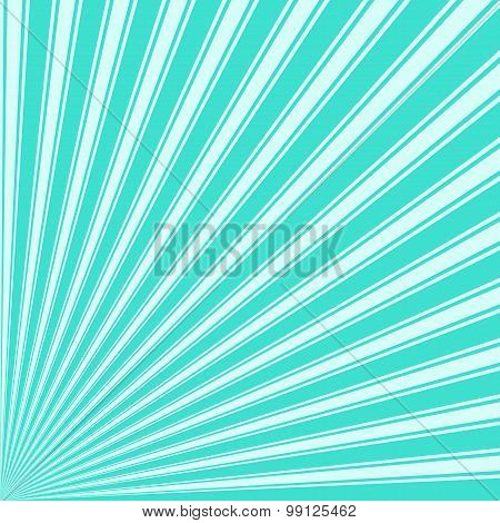 Turquoise Color Stripe Funky Sun Rays Backgound