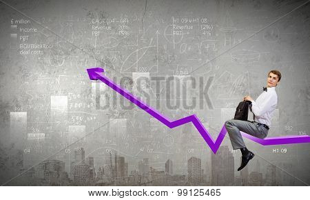 Businessman ride graph