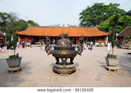 A view of the temple of Literature in Hanoi, Vietnam