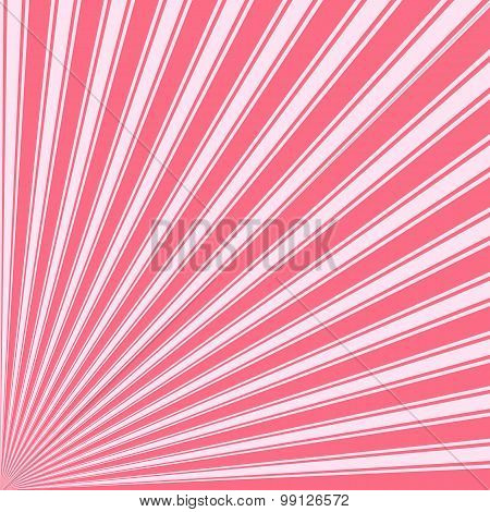 Wild watermelon Color Stripe Funky Sun Rays Backgound