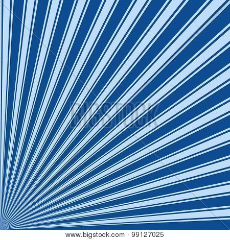 Yale Blue Color Stripe Funky Sun Rays Backgound