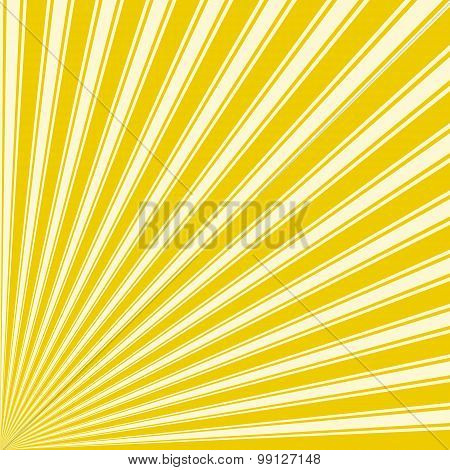 Yellow (Munsell) Color Stripe Funky Sun Rays Backgound