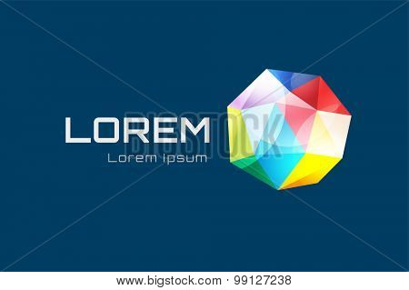 Abstract triangle low poly globe logo design template. Geometric shape. Low poly shape. Prism, triangle logo, polygon logo and 3d icon, lines, triangle design or triangle vector. Globe logo.