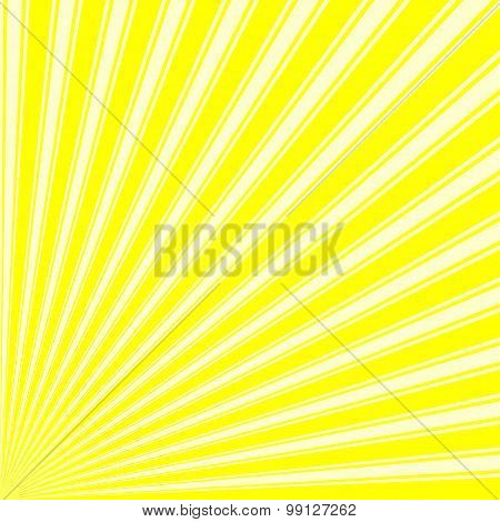 Yellow Color Stripe Funky Sun Rays Backgound
