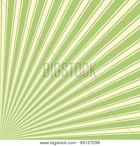 Yellow-green Color Stripe Funky Sun Rays Backgound