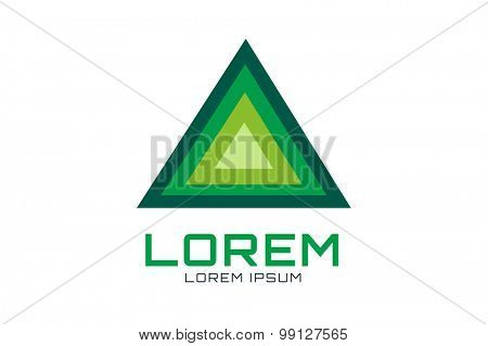 Pyramide shape logo icon vector. Triangle template design. Geometric shape, triangle icon. Tchnology icons, technology logo, vector logo, web, abstract shape. Web logo. Technology logo.