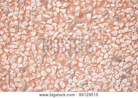 Sharp Stone Rock On Cement Floor
