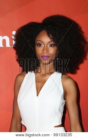 LOS ANGELES - AUG 13:  Yaya DaCosta at the NBCUniversal 2015 TCA Summer Press Tour at the Beverly Hilton Hotel on August 13, 2015 in Beverly Hills, CA