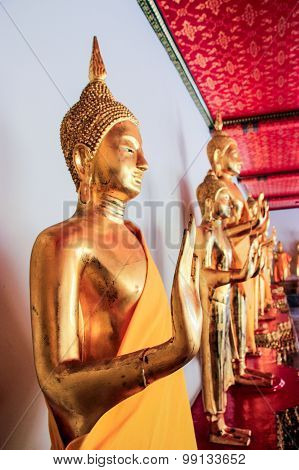 Buddha Statues In Wat Pho Temple