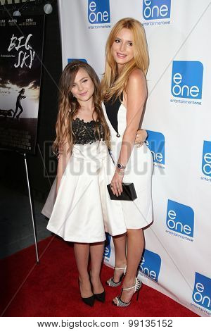 LOS ANGELES - AUG 14:  Chiara Aurelia, Bella Thorne at the