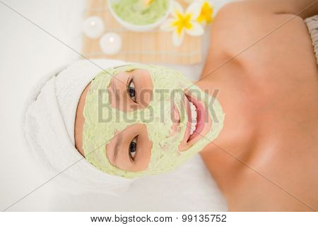 Close up of an attractive woman receiving at spa center